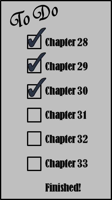 Yea!  Chapter 30 is finished!