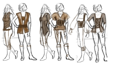 Character and Outfit Sketches
