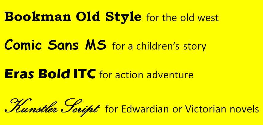 Book Trailer Font Examples