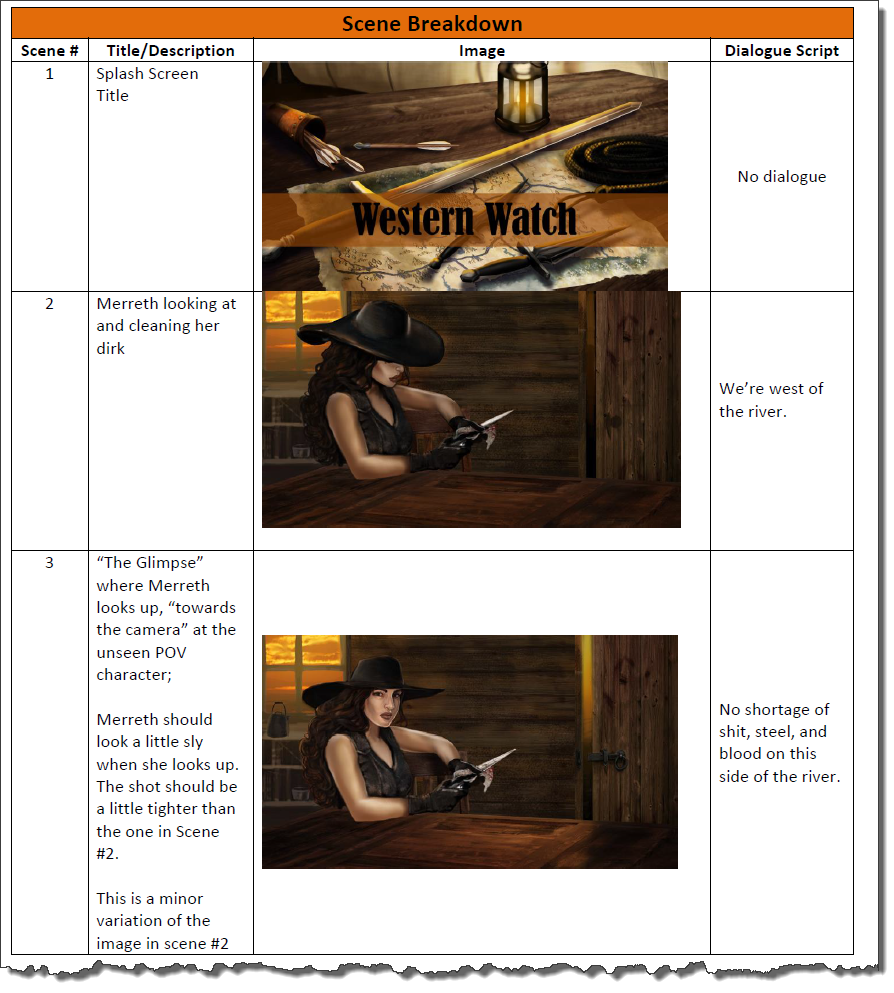 Book Trailer Storyboard Page 3