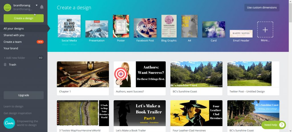 Five Content Creation Tools -- Canva