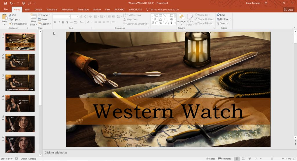 Five Tools for Content Creation -- PowerPoint