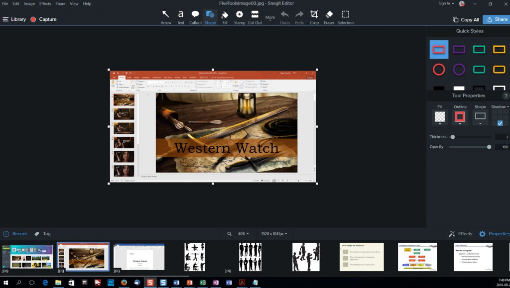 Five Tools for Content Creation -- Snagit