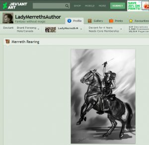 Lady Merreth's Authors Page on Deviantart, Brant Forseng, @brantforseng