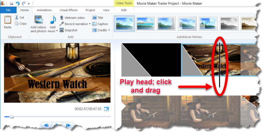 Let's Make a Book Trailer Part 18 Movie Maker play head, Brant Forseng, @brantforseng