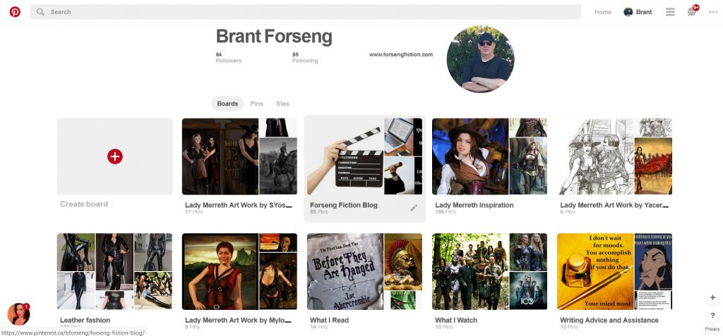 My Pinterest Boards, Brant Forseng, @brantforseng